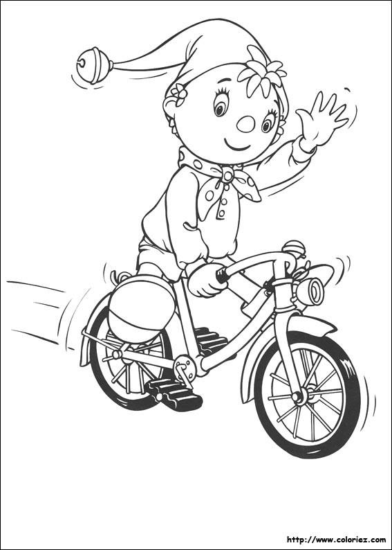 Coloriage et dessins gratuits Cycliste te salue dessin animé à imprimer