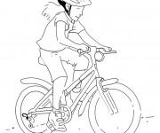 Coloriage et dessins gratuit Fille Cycliste à colorier à imprimer