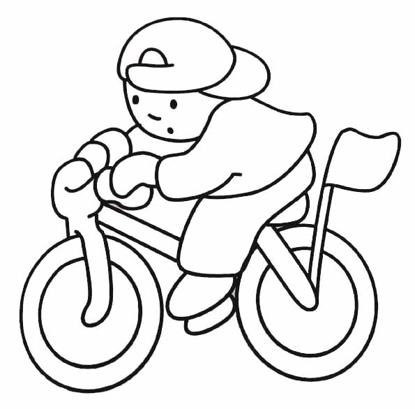 Coloriage le gar on sur sa bicyclette dessin gratuit - Bicyclette dessin ...