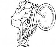 Coloriage Le sport cycliste extrême