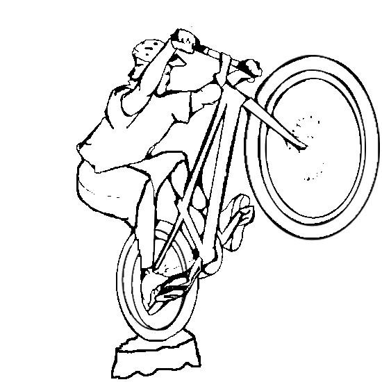 Coloriage et dessins gratuits Le sport cycliste extrême à imprimer