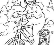 Coloriage Ours rigolo sur son Vélo