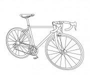 Coloriage Un vélo de course