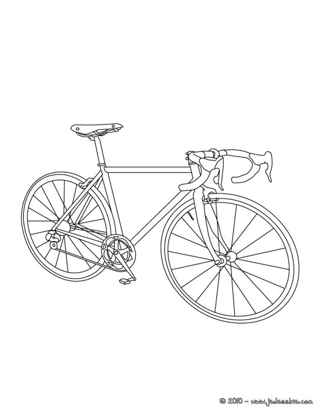 Coloriage Un Vélo De Course Dessin Gratuit à Imprimer