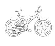 Coloriage Une Bicyclette facile