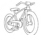 Coloriage Une Bicyclette simple