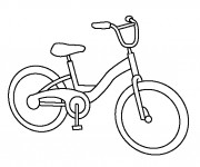 Coloriage et dessins gratuit Une Bicyclette VTT à imprimer