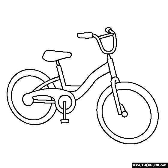 Coloriage et dessins gratuits Une Bicyclette VTT à imprimer