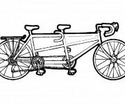 Coloriage Vélo à trois place