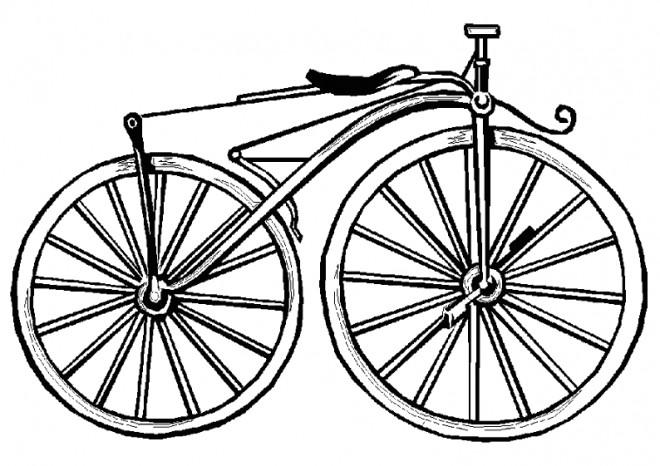 Coloriage et dessins gratuits Vélo Classique à imprimer