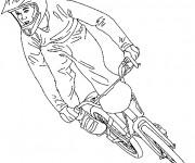 Coloriage Vélo de course BMX
