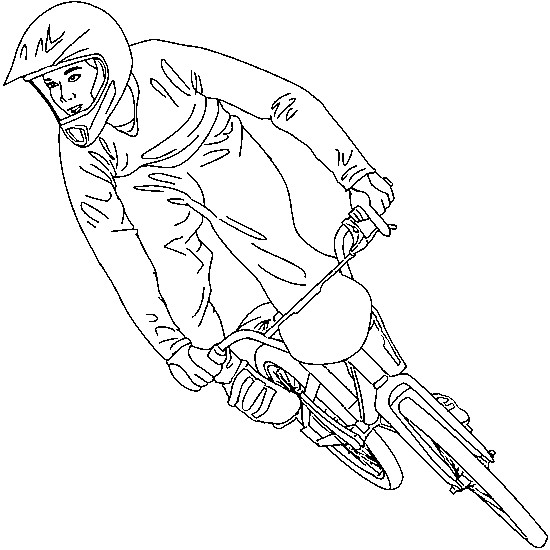 Coloriage v lo de course bmx dessin gratuit imprimer - Dessin velo vtt ...