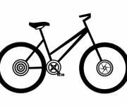 Coloriage Vélo de route simple