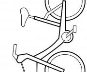 Coloriage Vélo facile en vecteur