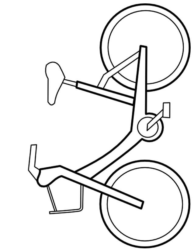 Coloriage et dessins gratuits Vélo facile en vecteur à imprimer