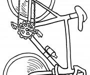 Coloriage Vélo facile sur ordinateur