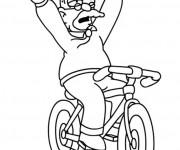 Coloriage Vélo humoristique