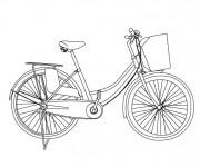 Coloriage Vélo maternelle