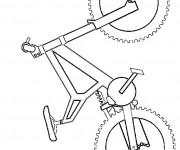 Coloriage Vélo simplifié