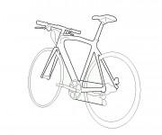 Coloriage et dessins gratuit Vélo stylisé à imprimer
