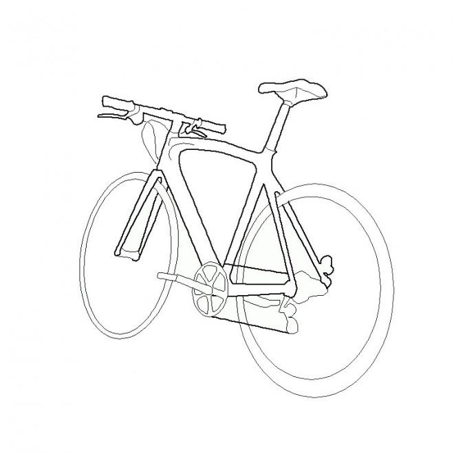 Coloriage et dessins gratuits Vélo stylisé à imprimer