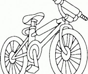 Coloriage Vélo VTT de sport