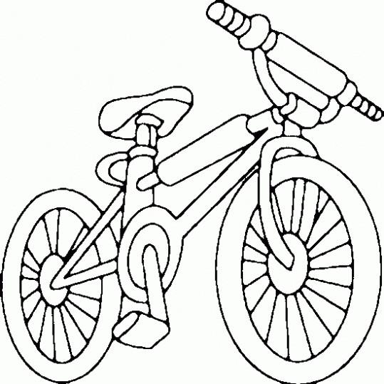 Coloriage v lo vtt de sport dessin gratuit imprimer - Dessin bicyclette ...
