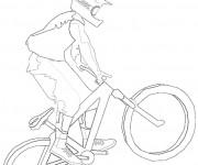 Coloriage Vélo VTT et Sport extrême
