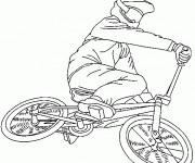 Coloriage Vélo VTT pour show extrême