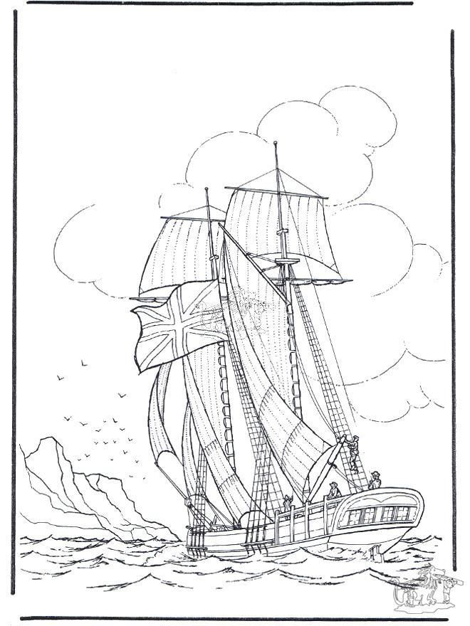 Coloriage et dessins gratuits Ancien Voilier marchand à imprimer