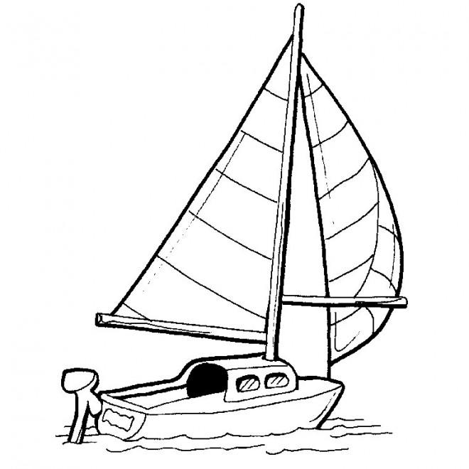 Coloriage et dessins gratuits Bateau à voile à imprimer