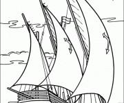 Coloriage et dessins gratuit Bateau à voile de Guerre à imprimer