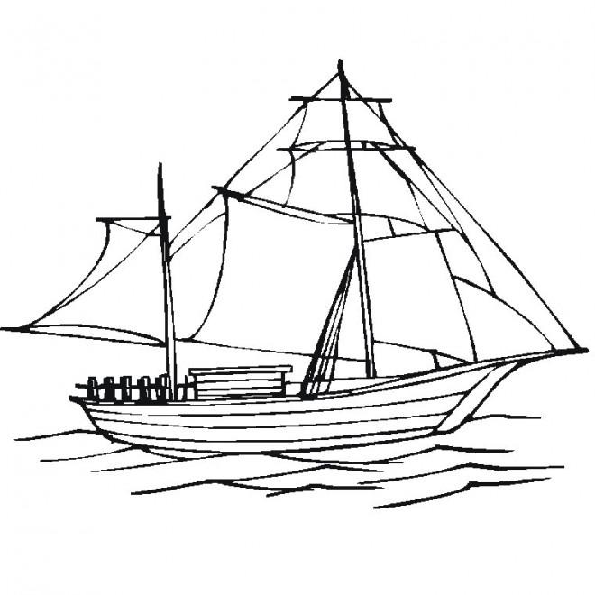 coloriage bateau voile en ligne dessin gratuit imprimer. Black Bedroom Furniture Sets. Home Design Ideas