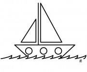 Coloriage et dessins gratuit Bateau à voile stylisé à imprimer
