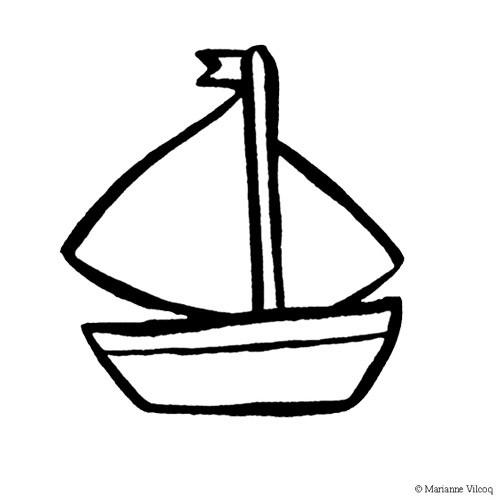 Coloriage petit bateau t l charger - Dessin petit bateau ...