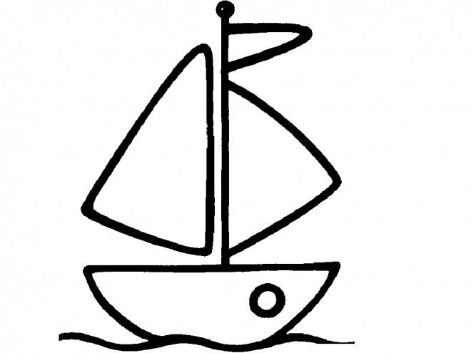 Coloriage un tout petit bateau couleur dessin gratuit imprimer - Dessin petit bateau ...