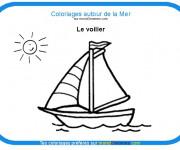 Coloriage Voilier 2