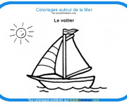 Coloriage et dessins gratuit Voilier en couleur à imprimer