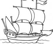 Coloriage et dessins gratuit Voilier Pirate à imprimer