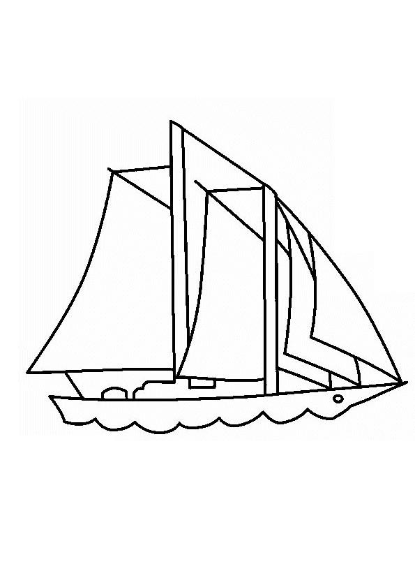 Coloriage et dessins gratuits Voilier pour transport maritime à imprimer