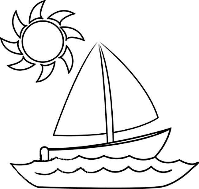 Coloriage et dessins gratuits Voilier sous les rayons de soleil à imprimer