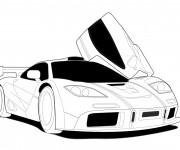 Coloriage Auto de course 12