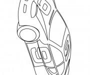 Coloriage Auto de course 68