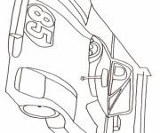 Coloriage et dessins gratuit Auto de course au crayon à imprimer