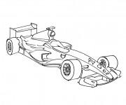 Coloriage et dessins gratuit Auto de course de Formula 1 à imprimer