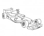 Coloriage Auto de course de Formula 1