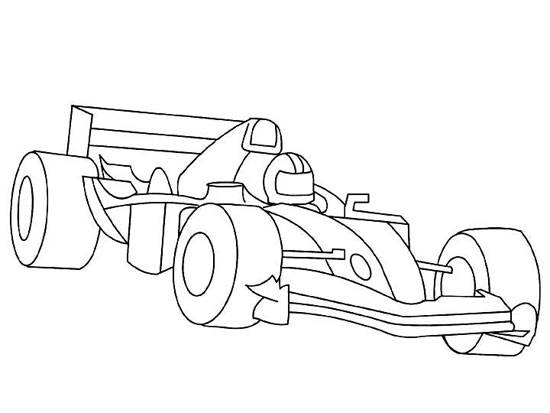 Coloriage et dessins gratuits Auto de course Indy 500 à imprimer