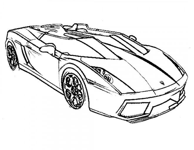 Coloriage et dessins gratuits Automobile de Luxe en couleur à imprimer