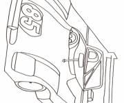 Coloriage et dessins gratuit bolide de course au crayon à imprimer