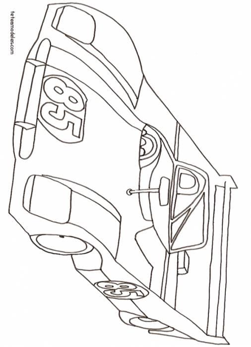 Coloriage et dessins gratuits bolide de course au crayon à imprimer